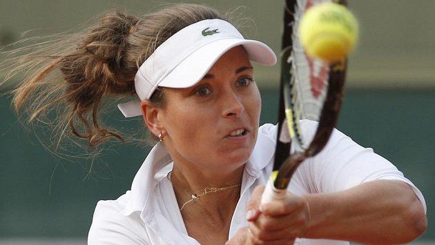 Česká tenistka Petra Cetkovská v utkání proti Italce Robertě Vinciové.