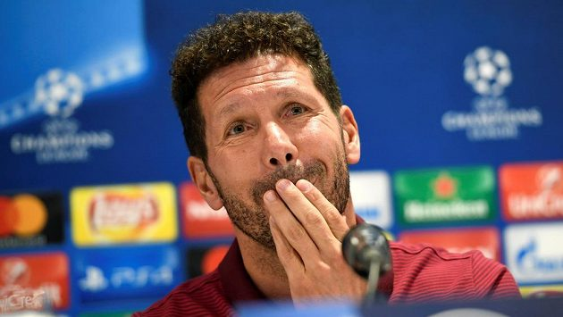 Kouč Atlétika Madrid Diego Simeone.