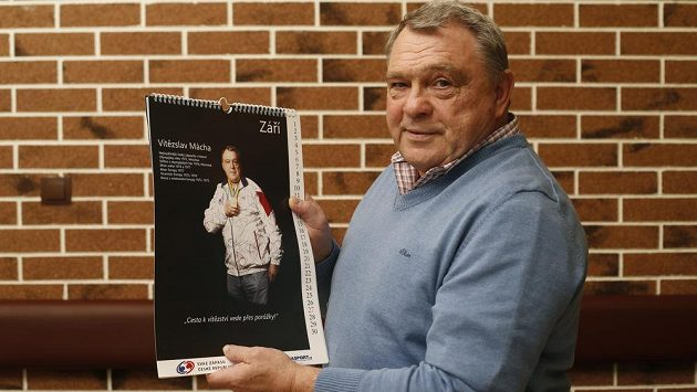 Vítězslav Mácha na jednom ze setkání sportovců, které pořádal Svaz zápasu ČR.