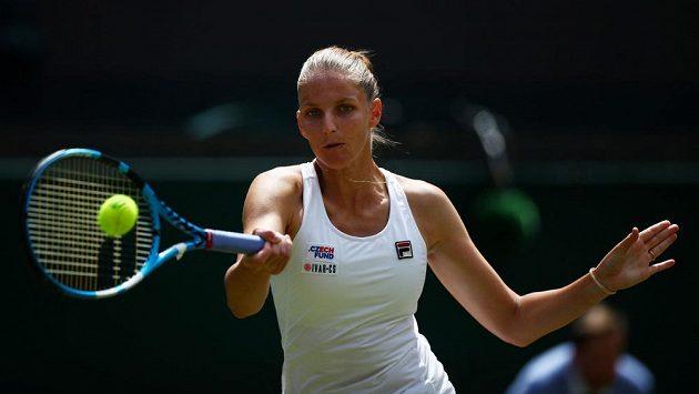Karolína Plíšková při utkání se Sie Šu-wej z Tchaj-wanu.