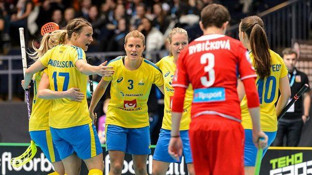 Ilustrační snímek ze zápasu Česko - Švédsko