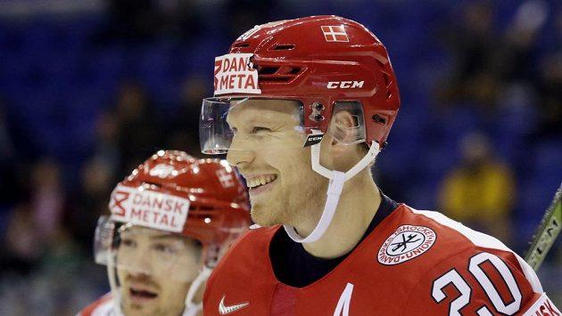 Dán Lars Eller se raduje z gólu proti Británii.