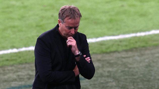 Kouč Dánů Kasper Hjulmand během semifinále EURO.