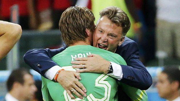 Brankář Tim Krul se odvděčil kouči Louisi van Gaalovi za důvěru a v penaltovém rozstřelu vychytal Nizozemcům postup přes Kostariku do semifinále.