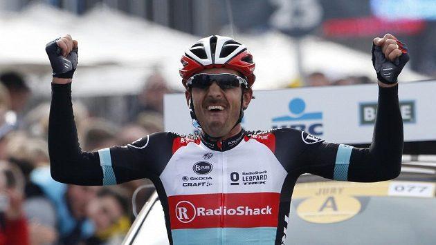 Fabian Cancellara ze Švýcarska, vítěz 97. ročníku závodu Kolem Flander.