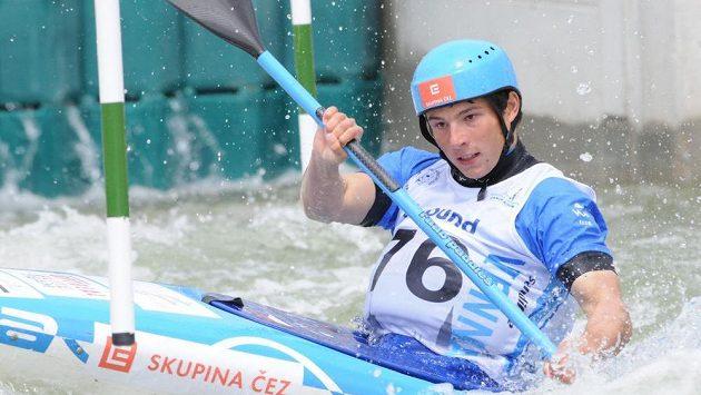 Kajakář Jiří Prskavec během mistrovství Evropy ve Vídni.