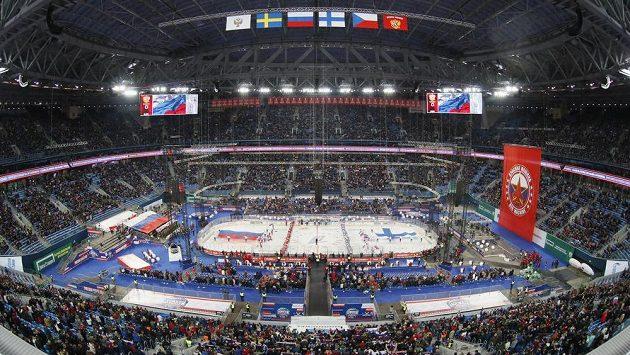 Utkání Rusů s Finy se hrálo pod śirým nebem na fotbalovém stadionu v Petrohradu.