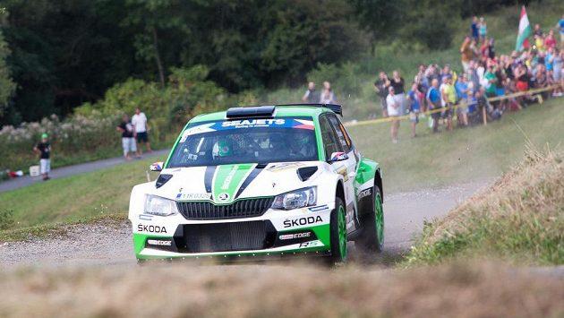 Jan Kopecký, Pavel Dresler během rychlostní zkoušky Biskupice na 47. ročníku Barum rallye Zlín.