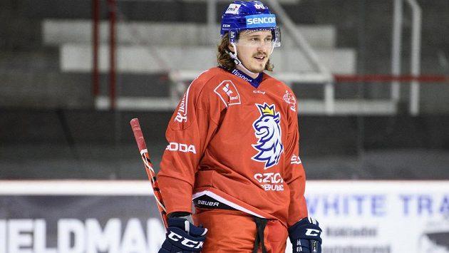 Libor Šulák během tréninku hokejové reprezentace.