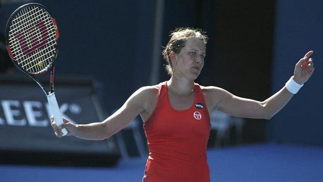 Tenistka Barbora Strycová (na snímku) titul v deblu na turnaji v Sydney nezískala.