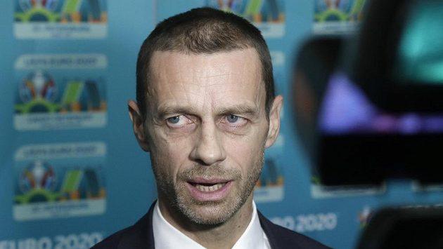 Šéf UEFA Aleksander Čeferin.