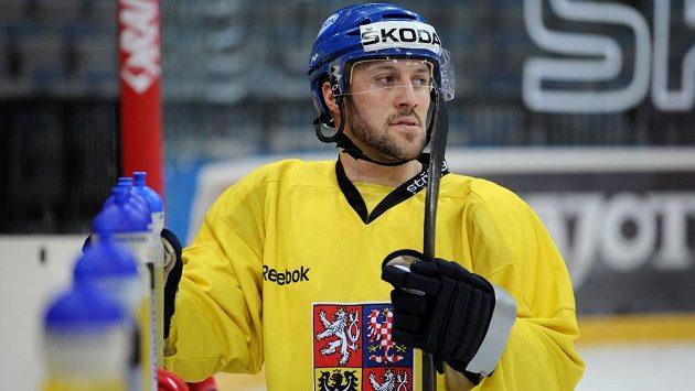 Ivan Rachůnek na tréninku české reprezentace.