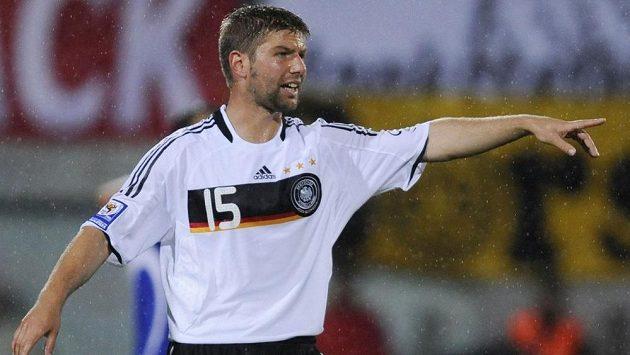 Záložník Thomas Hitzlsperger v dresu německé reprezentace.