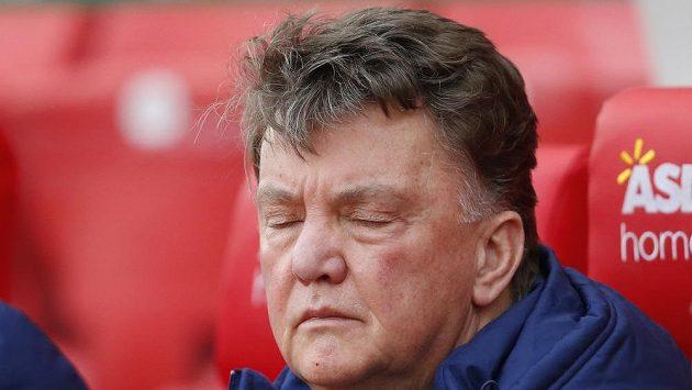 Kouč Rudých ďáblů Louis van Gaal před utkáním 18. kola anglické ligy