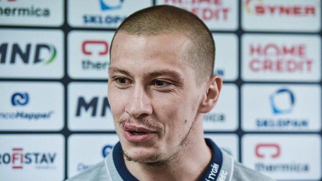 Liberecký obránce Martin Ševc před finále extraligy.