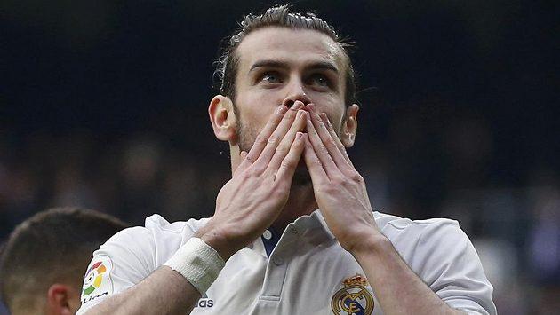 Gareth Bale z Realu Madrid se raduje z gólu.