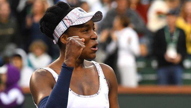 Americká tenistka Venus Williamsová postupuje dál na turnaji v Indian Wells.