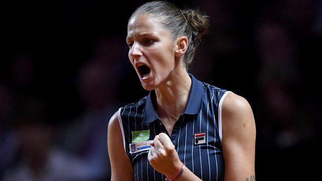 Karolína Plíšková ve finále turnaje ve Stuttgartu.