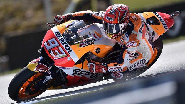 Vítěz kvalifikace v kategorii MotoGP Marc Márquez ze Španělska.