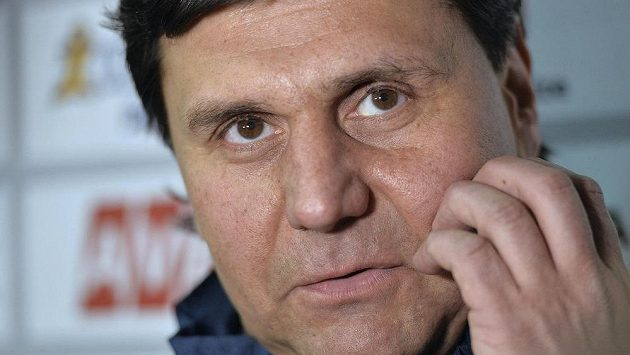 Reprezentační trenér Vladimír Růžička.