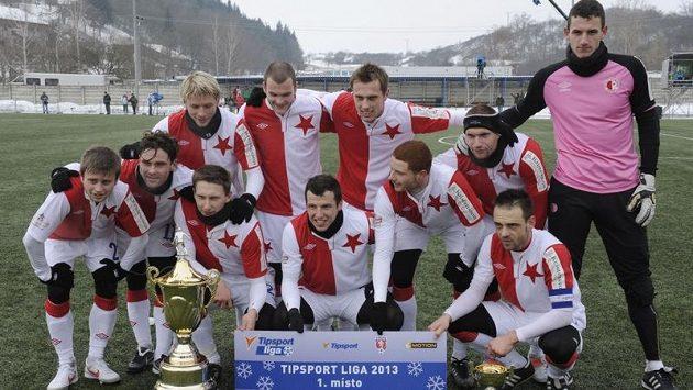Vítězné mužstvo Slavie.
