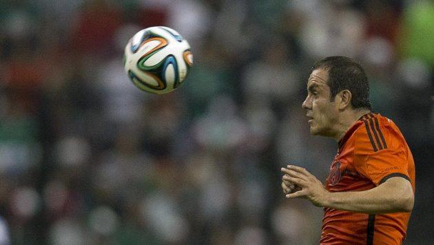 Mexičan Cuauhtemoc Blanco při rozlučkovém zápase s reprezentací.