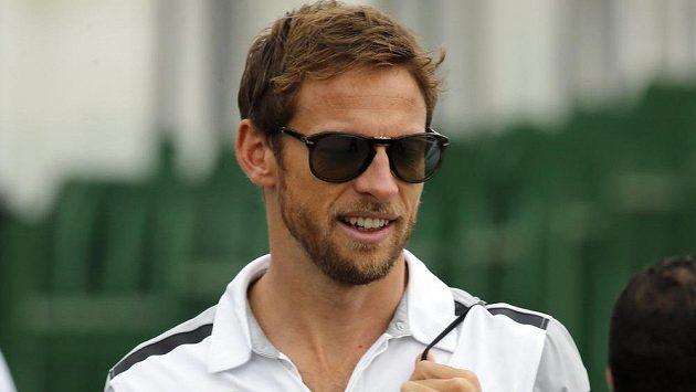Jenson Button na okruhu Interlagos při Velké ceně Brazílie.