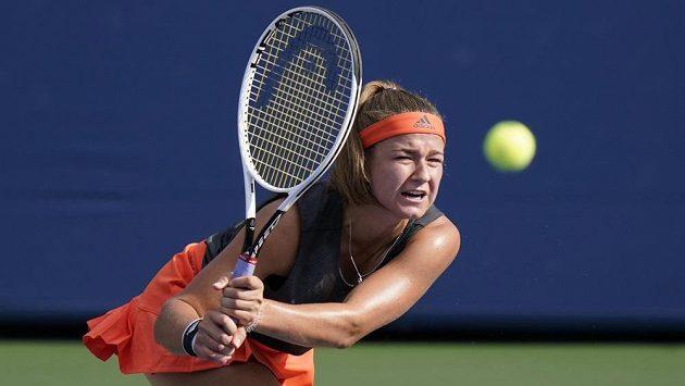 Karolína Muchová na turnaji v New Yorku.