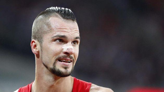 Jakub Holuša po vítězství v semifinále na 1500 m při MS v Londýně.