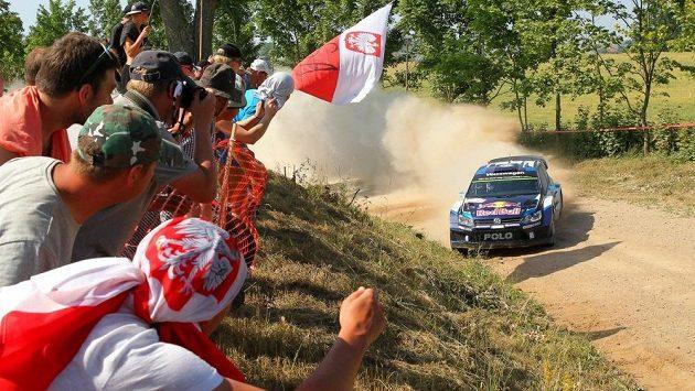 Sébastien Ogier na ilustračním snímku během Polské rallye