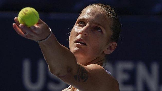Karolína Plíšková během zápasu na US Open
