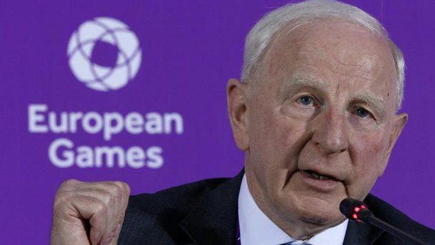 Šéf Evropského olympijského výboru Patrick Hickey.