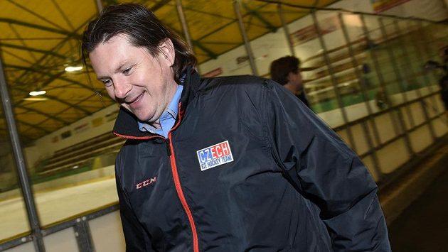 Nový tiskový mluvčí české hokejové reprezentace Martin Procházka ve Velkých Popovicích.