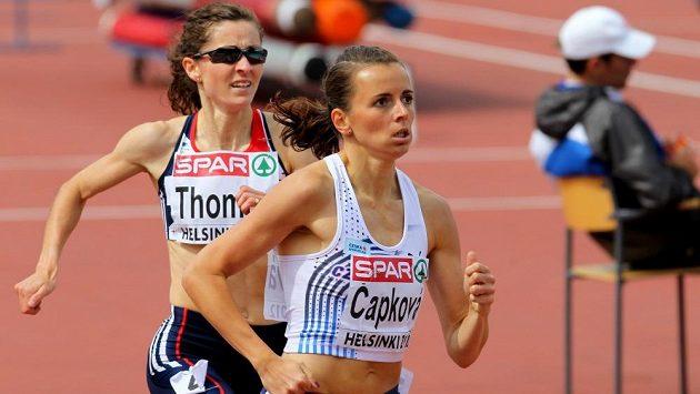Tereza Čapková při nakonec bronzovém mistrovství Evropy v Helsinkách.