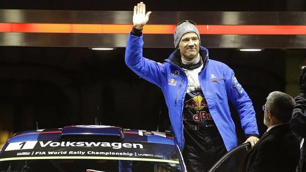 Sébastien Ogier na startu Rally Monte Carlo.