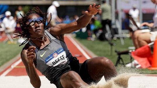 Brittney Reeseová během amerického šampionátu v Eugene.