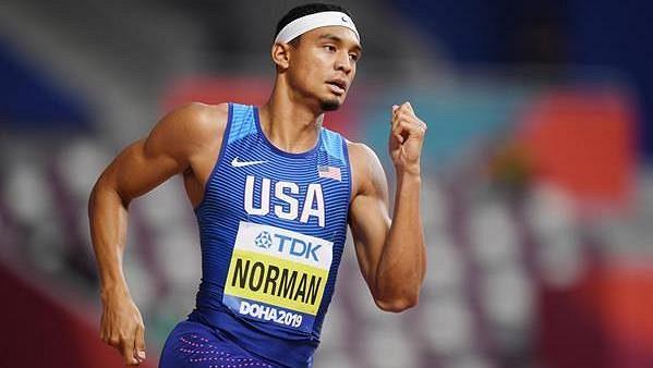 Americký sprinter Michael Norman, ilustrační foto.