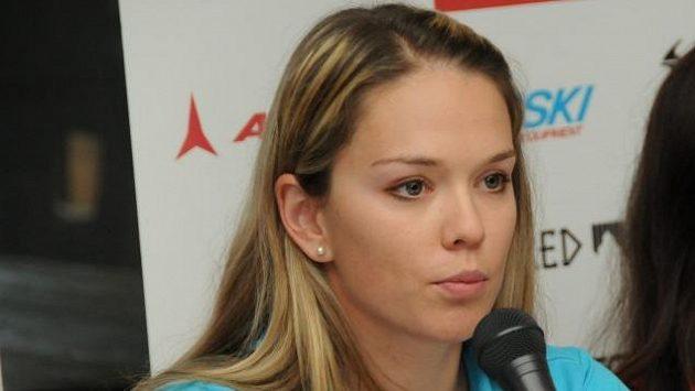 Klára Křížová při tiskové konferenci před startem sezóny.