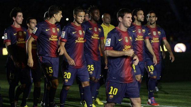 Fotbalisté Barcelony v dresech pro sezónu 2012/13.