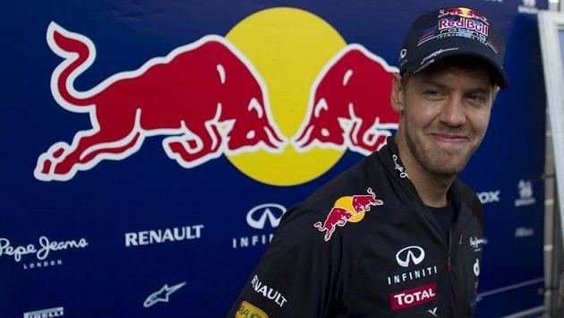 Spokojený Němec Sebastian Vettel po tréninku v Abú Zabí.