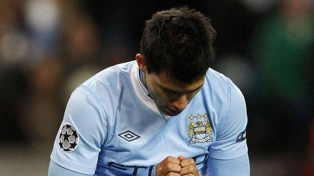 Útočník Manchesteru City Sergio Agüero