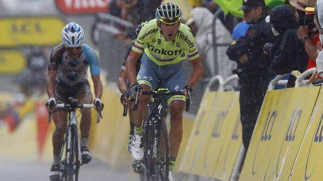 Roman Kreuziger při etapě na Tour de France.