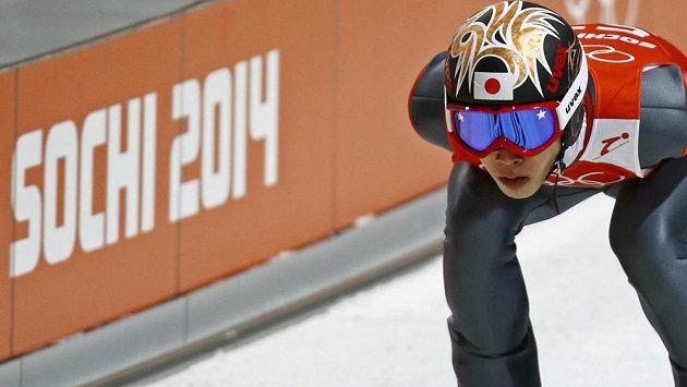 Japonský skokan na lyžích Taku Takeuči při ZOH.