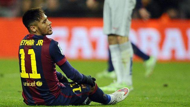 Neymar v dresu Barcelony v utkání Španělského poháru.