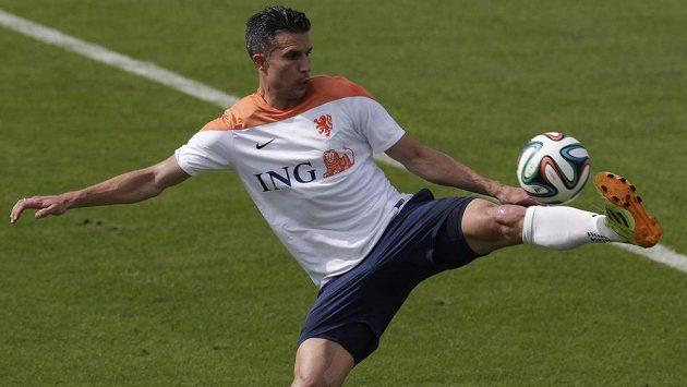 Nizozemský útočník Robin van Persie.