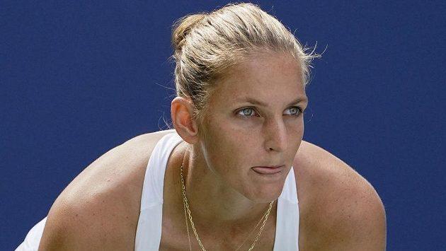 Tenistka Karolína Plíšková během US Open.