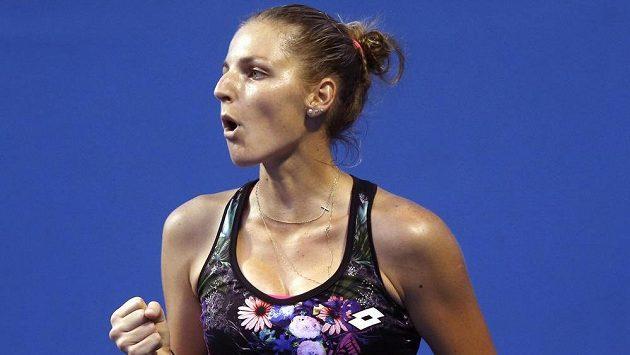 Česká tenistka Kristýna Plíšková se představí i na turnaji v Praze.