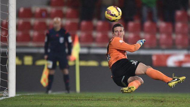Tomáš Grigar sleduje míč.