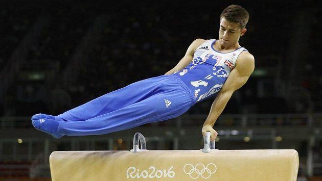 Britský gymnasta Max Whitlock.