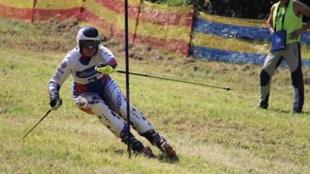 Adéla Kettnerová v Ravasclettu ovládla slalom Světového poháru v travním lyžování.